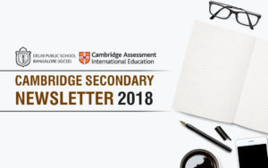 Cambridge Secondary Newsletter August 2018