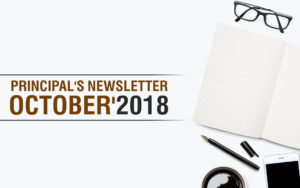 Principal's Newsletter October 2018