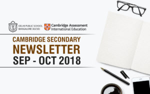 Cambridge Secondary Newsletter - Sep - Oct 2018