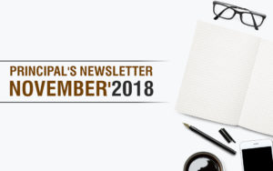 Principal's Newsletter - Nov 2018