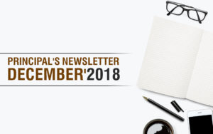 Principals Newsletter - December '2018