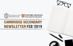 Cambridge Secondary Newsletter - Feb '2019