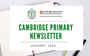 Cambridge Primary Newsletter - Jan '2019