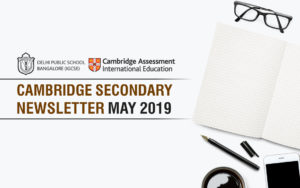 Cambridge Secondary Newsletter - May 2019