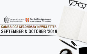 Cambridge Secondary Newsletter  - October & September'2019