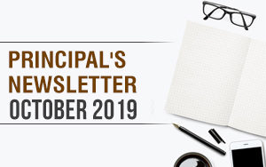 Principal's newsletter-  October 2019