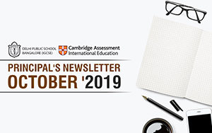 PRINCIPAL'S NEWSLETTER OCTOBER 2019
